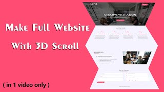 How To Make A Website Using HTML And CSS With 3D Effect Scrolling   Complete Website Design