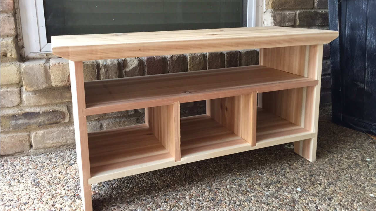 Small Wooden Bench For A Porch Or Entryway Doovi