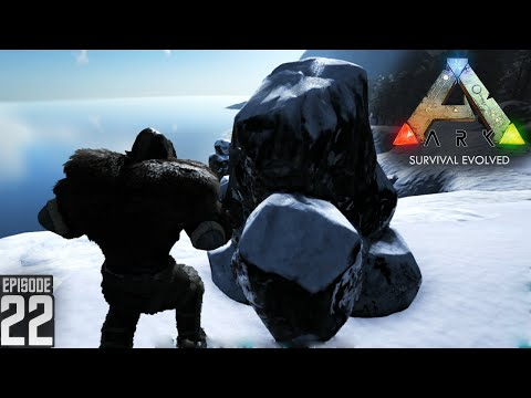 Oil in Winter Biome - ARK Survival Evolved (Gameplay)  - E22