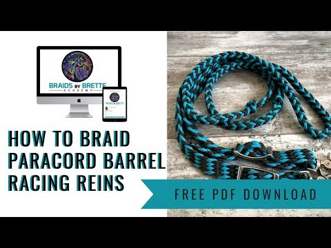 DIY How to Braid Paracord Barrel Racing Reins Instructions