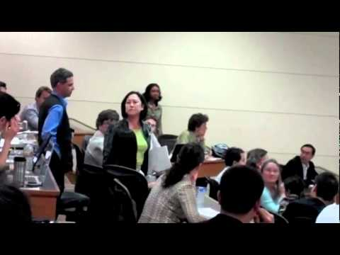 Activist Confronts Condoleezza Rice at Stanford University International Law & War Crimes!
