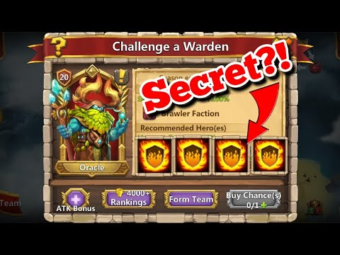 Oracle Warden - Secret To The Challenge? Castle Clash