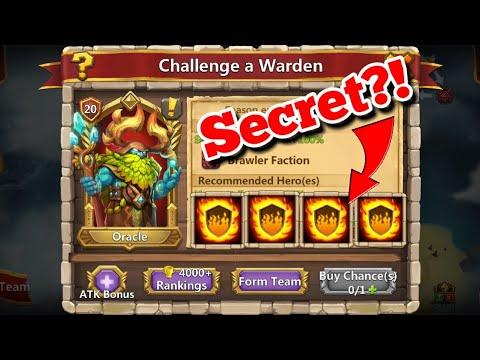 Oracle Warden - Secret To The Challenge? Castle Clash