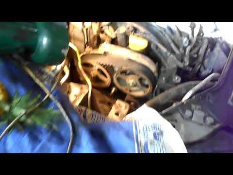 как поменять на рено клио,симбол ремень грм,двигатель К4J Часть 1