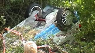 Havárie Kundrát - Poláček - Rallye Český Krumlov 2004