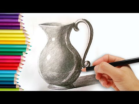 How to Draw a Jug - how to draw a jug step by step tutorial for kids learn drawing for beginners