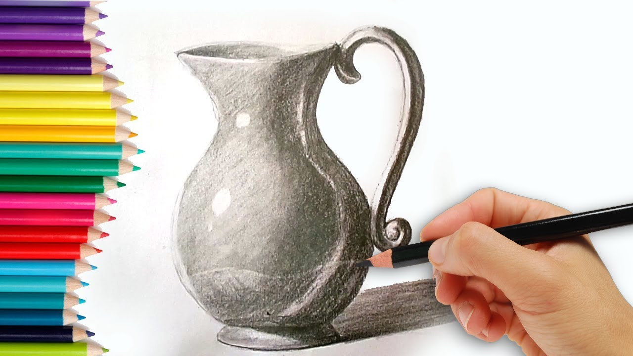 How to draw a jug how to draw a jug step by step tutorial for kids learn drawing for beginners