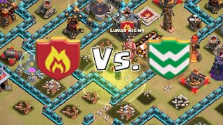 Clash of Clans | High Level Clan Wars | Lunar vs. Lost Phoenix 2: Demeter - SPLITTING THE BASE
