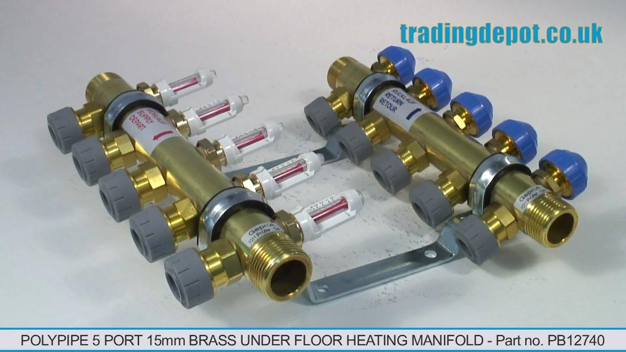 Polypipe 5 port 15mm brass under floor heating manifold part no polypipe 5 port 15mm brass under floor heating manifold part no pb12740 asfbconference2016 Images
