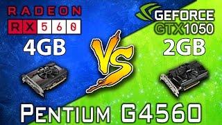RX 560 4GB vs GTX 1050 2GB  Pentium G4560  DX11  DX12  13 Games Benchmarks Games List  Battlefield 1 Deus Ex  Mankind Divided DOOM