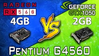 RX 560 (4GB) vs GTX 1050 (2GB) | Pentium G4560 | DX11 & DX12 | 13 Games Benchmarks