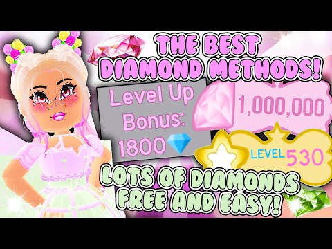How YOU  Can Get LOTS OF DIAMONDS FREE AND EASY! ALL DIAMOND METHODS in Roblox Royale High School!