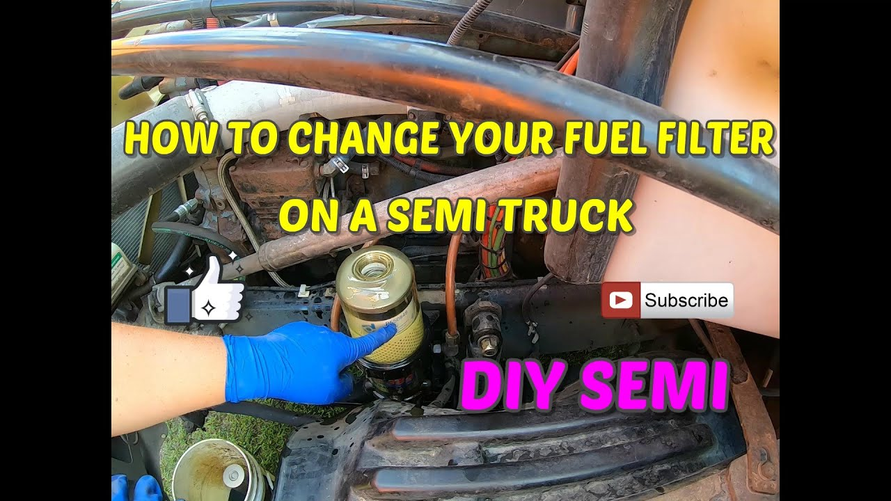 How to change a fuel filter on a semi truck, davco fuel water separator -  YouTube | Volvo Semi Truck Fuel Filter Location |  | YouTube
