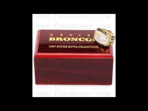 Custom NFL 1998 Super Bowl XXXIII Denver Broncos Championship Ring