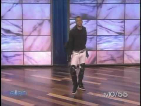 Chris Grant dancing on Ellen DeGereres Show