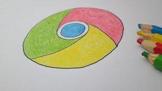 Como desenhar a logo do Google Chrome