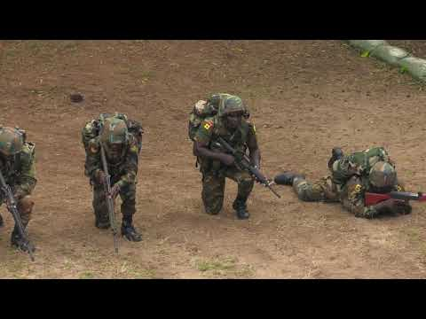 GHANA ARMED FORCES HOLDS LAND COMBAT DEMONSTRATION