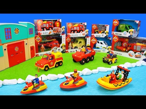 Fireman Sam Toys Unboxing For Kids: Fire Trucks, Firestation & Firefighter Playsets