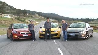 Peugeot 308 s gti - renault megane iii rs - vw scirocco gts - a fondo en pista | autocosmos