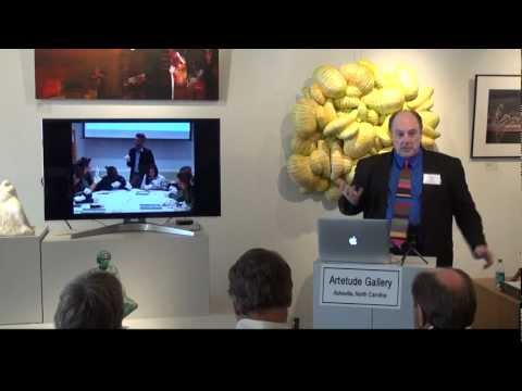 "Mount Holyoke Art Museum Director Stomberg at Artetude Gallery ""Sisters & Art"" MHC Alumni Reception"