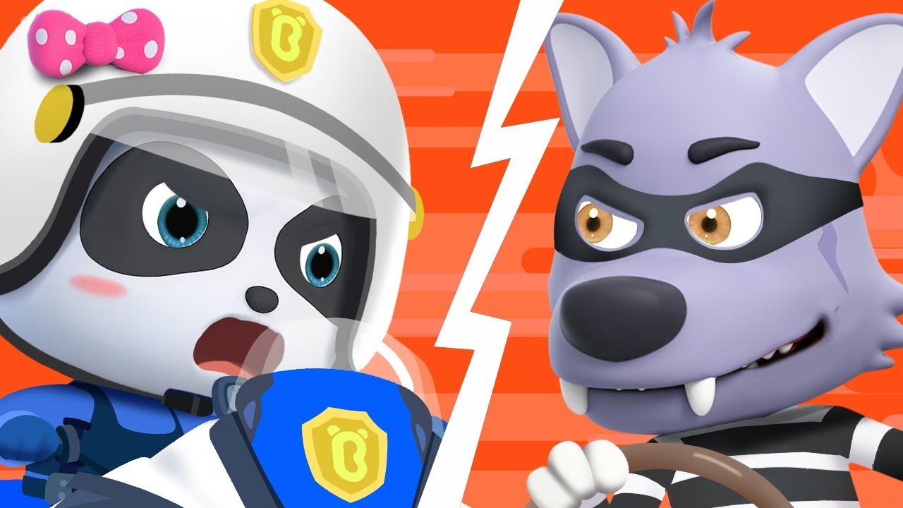 Super Policeman VS Big Bad Wolf 🚓 | Fireman, Doctor 🚑 🚒 | Nursery Rhymes | Kids Songs | BabyBus