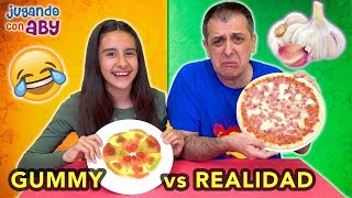 GUMMY vs REAL Challenge. GOMITAS y realidad. El AJO está ASQUEROSO!