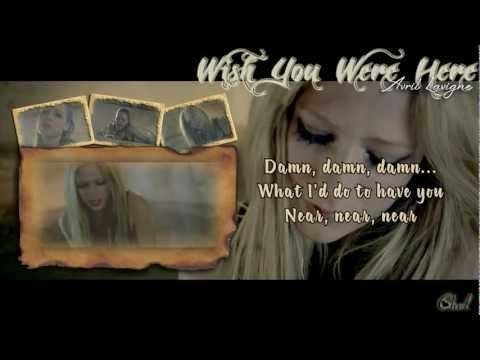 WISH YOU WERE HERE (karaoke/instrumental) - Avril Lavigne