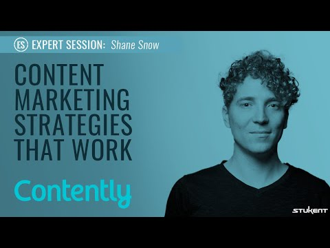 Stukent Expert Session - Content Marketing Strategies That Work w/Shane Snow