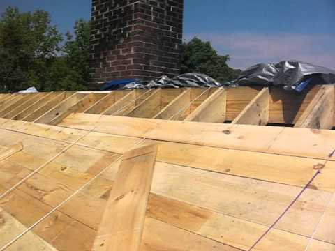 Pine board roof sheathing for slate youtube for What to use for roof sheathing