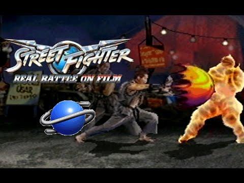 street fighter real battle on film playthrough sega saturn youtube