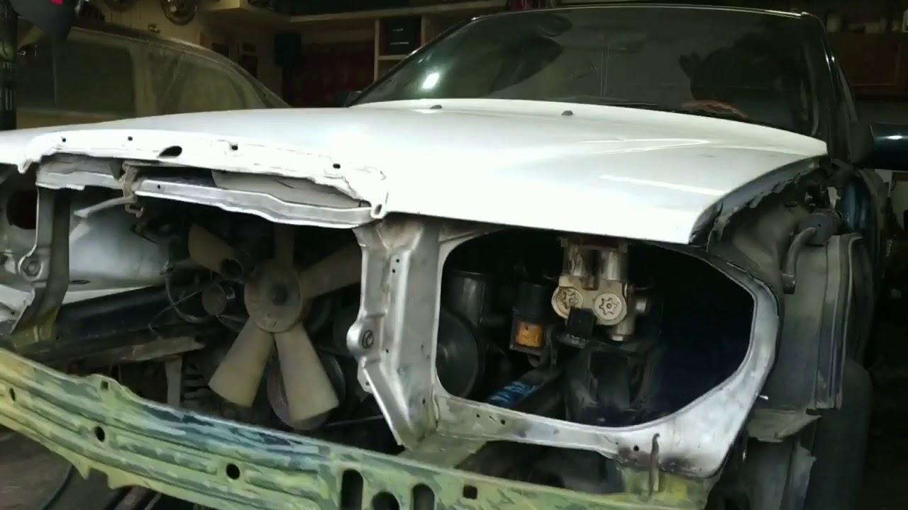 Ремонт Mercedes w124 AMG .  Кузовной ремонт после ДТП