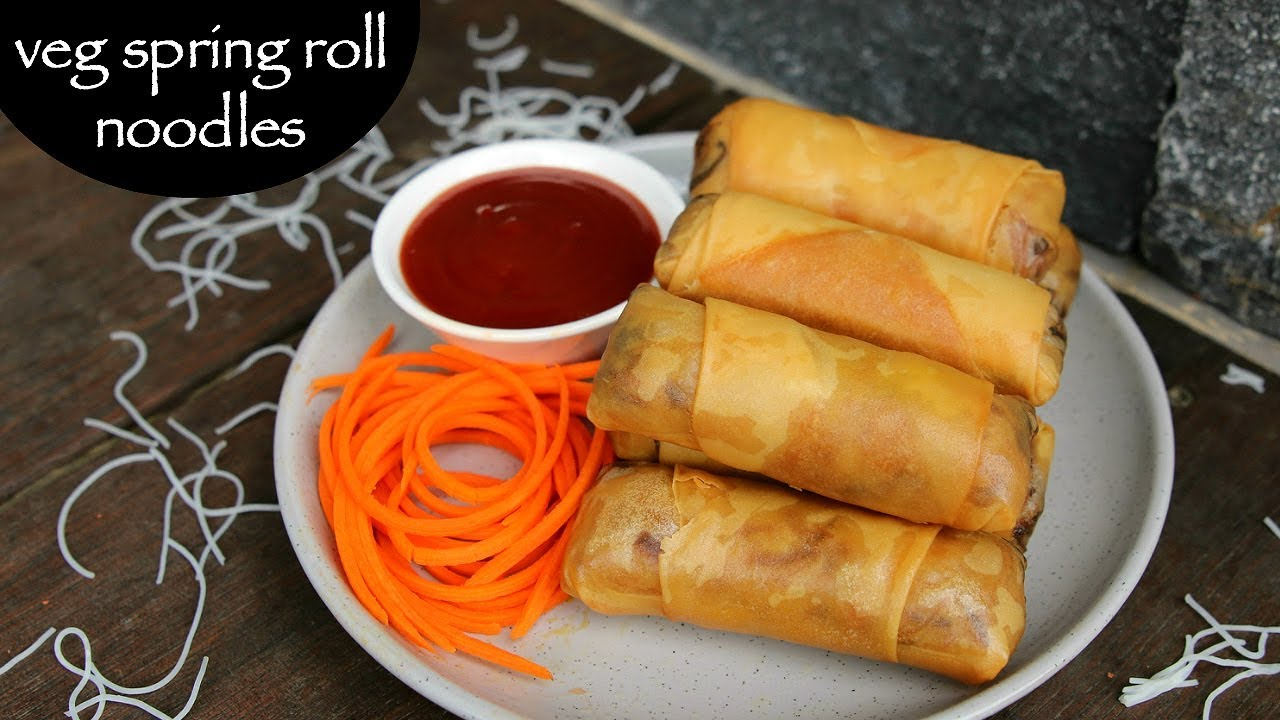 Spring roll noodles recipe how to make noodles spring roll recipe