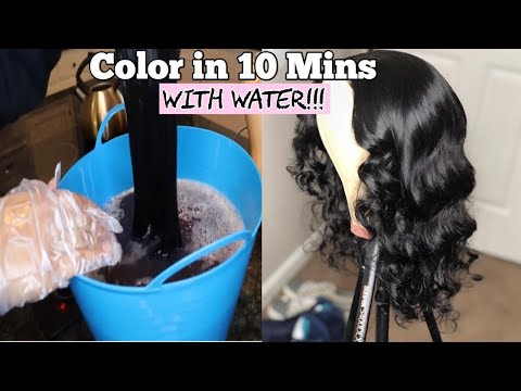 HOW TO DYE YOUR HAIR IN WATER IN 10 MINS!!| WATERCOLOR METHOD| SHATARIBAEE