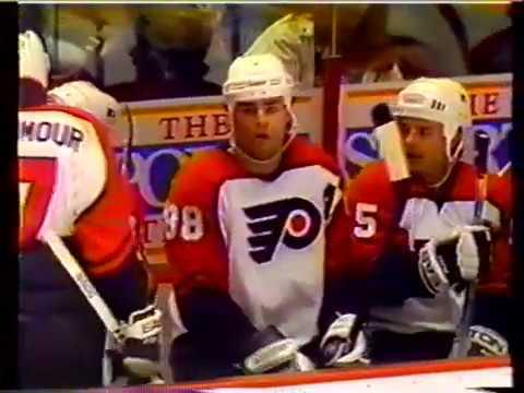 Philadelphia Flyers Lindros 2nd NHL Season 1993-94 goals 40 41 42 43 44