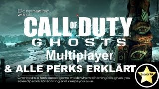 COD Ghosts Multiplayer Gameplay - ALLE PERKS! Neues Perk System ! - (Call Of Duty Ghosts Online)