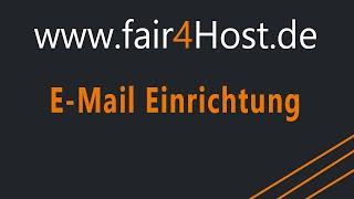 fair4Host | E-Mail Einrichtung