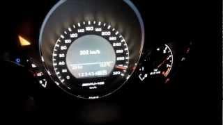 Mercedes Benz C63 AMG Beschleunigung 0-100km/h, 0-200 (12,9sec!!), 0-300 km/h; Acceleration 0-190mph