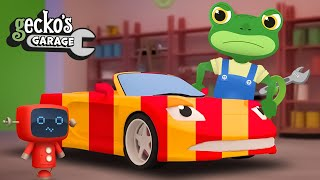 Sports Car Crazy Color Painting|Gecko's Garage|Funny Cartoon For Kids|Learning Videos For Toddlers