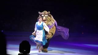 ディズニーオンアイスの美女と野獣のシーンです。ベルのスケートが優雅...