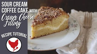SOUR CREAM COFFEE CAKE WITH CREAM CHEESE FILLING   Cook With Me