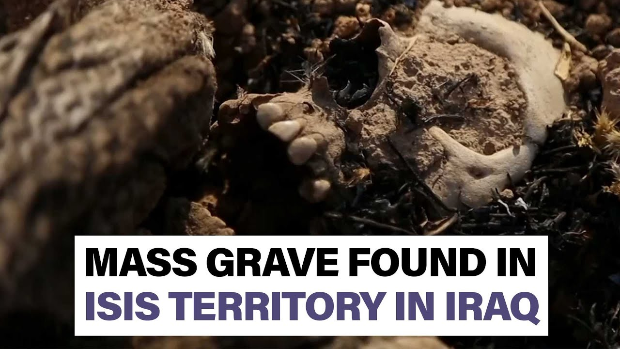 Locals uncover trench filled with bodies in former ISIS territory