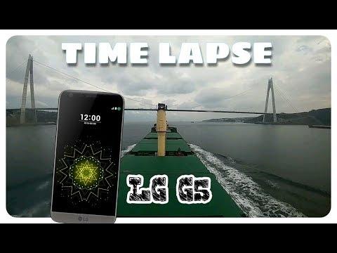 Timelapse filmed on the phone Lg G5 in Turkey strait bosfor