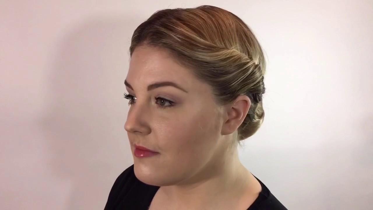 civil war hairstyles - braided chignon