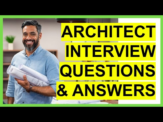 Architect Interview Questions And Answers How To Pass An Architecture Interview Youtube