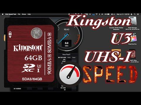 Kingston 32GB SDXC UHS-I U3 Speed Test & File Transfer