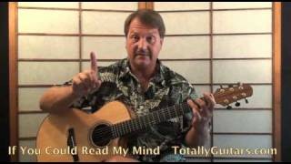 Gordon Lightfoot - If You Could Read My Mind Acoustic Guitar Lesson Preview