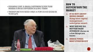 Charlie Munger on How To Outperform the Market & Index Funds in 2020