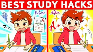 8 BRILLIANT STUDY HACKS Every STUDENT Must Know… | Study Tricks |STUDY Hacks - Score Better in EXAMS