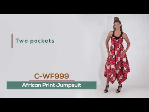 cb6dab06a6d6 African Print Jumpsuit from Africa Imports - YouTube