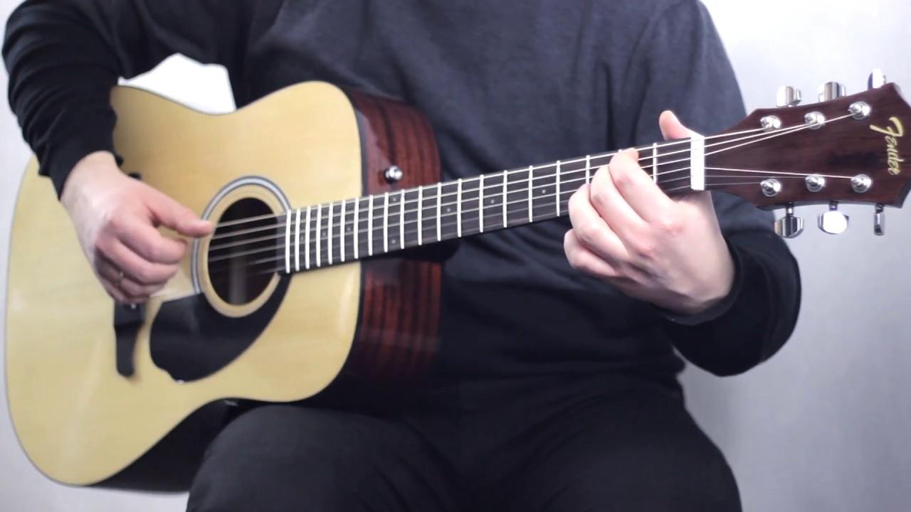 Fender Fa 125 Acoustic Guitar Demo Soundcheck